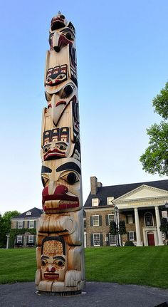 Native American  totem poles paintings | Recent Photos The Commons Getty Collection Galleries World Map App ...