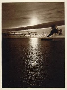 "rarething: "" Sunset view of the sea, Germany by Kurt Hielscher 1925 photogravure "" Fine Art Photo, Photo Art, Evening Sunset, Sunset Sea, Original Image, Vintage Art, Germany, Tours, Landscape"