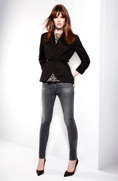 Hudson Jeans, Pure Sugar Blouse & Gibson Blazer | #Nordstrom #FallTrends