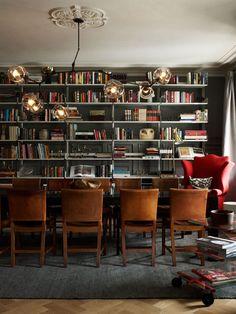 dining room / color palette / shelving