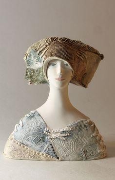 Sculpture Bust , Ceramic Art , Ceramic Figurine , Pottery , Ceramic Bust , Handmade Sculpture by ImagoArtDesign Ceramic Art, Sculpture Art, Captain Hat, Pottery, Statue, Fine Art, Etsy, Handmade, Vintage