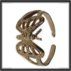 9ct Gold adjustable Butterfly Toe ring
