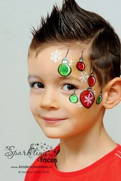 Resultado de imagen para maquillaje facial niños navidad