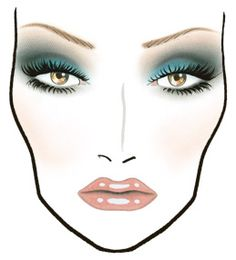 Theodorasdaily: Best of: Mac face charts. Make up bible. Mac Makeup Looks, Best Mac Makeup, Best Makeup Products, Makeup Tips, Eye Makeup, Beauty Products, Makeup Ideas, Face Charts Mac, Teal Eyes