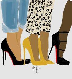 Meeting With the Girls de la boutique Nikisgroove sur Etsy Black Girl Art, Black Women Art, Black Girls Rock, Black Girl Magic, Art Girl, Mode Chic, Mode Style, African American Art, African Art