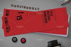 Multipurpose Simple Ticket  @creativework247