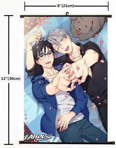 "Hot Japan Anime Yuri!!! On Ice Victor Poster Wall Scroll Home Decor 8""×12"" 100"