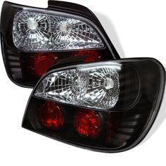 ( Spyder ) Subaru Impreza WRX / Sti 02-03 4Dr (Not Fit Wagon) Euro Style Tail Lights - Black