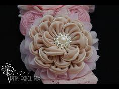 Flor pétalo Plisado - YouTube