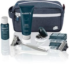 Harry's Travel Kit - Another! Beard Game, Mens Travel, Overseas Travel, Shaving Cream, Men's Shaving, Travel Kits, Hiking Gear, Barneys New York, Luxury Gifts