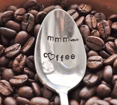 Hand Stamped Vintage Coffee Spoon