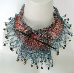 Crochet Wire Necklace the Elemental.