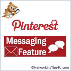 How to message another pinner on Pinterest #tips, #tricks, #pinterest