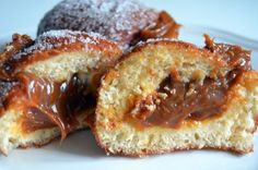 Beignets filled with dulce de leche are the most delicious part of an Argentinean merienda