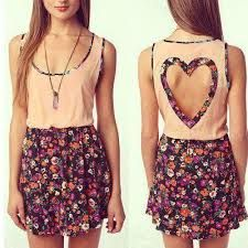 Girly heart back dress - Kristen's choice