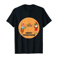 Funny Christmas 2020 I Love Social Distancing Gift T-Shirt