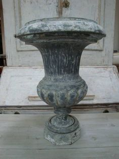 19th c French Zinc Urn