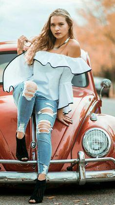 VW Beetle girl