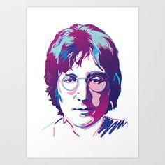 John Lennon Art Print by Joe Murtagh - $18.00