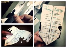 Our tie in to the paperman short. ^.^ Paper Airplane Wedding Programs by PardonMyDesign on Etsy, $19.95