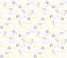 Mountain_spirit fabric by un_temps_de_coton on Spoonflower - custom fabric