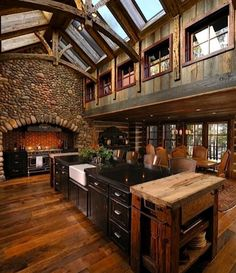 I want to have a HUGE kitchen like this for cooking. I want to have friends and family over all the time.