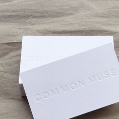 "159 Likes, 5 Comments - Common Muse (@commonmuseco) on Instagram: ""Cards to go with every order."""