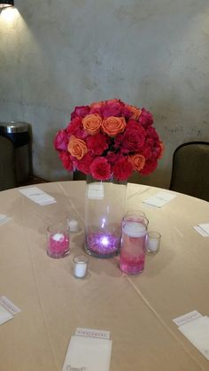 Centerpiece from this weekends wedding. Moonflower Cottage.