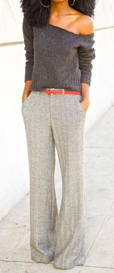 Herringbone trousers This outfit is damn cool..!! I loved the shades and the texture a lot..!!