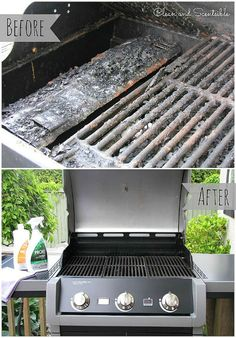 Grill reinigen Get your BBQ ready for grilling season - looks brand new! Deep Cleaning Tips, House Cleaning Tips, Cleaning Solutions, Spring Cleaning, Cleaning Hacks, Grill Cleaning, Cleaning Products, Diy Spring, How To Clean Bbq