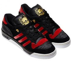 adidas Originals Rivalry Lo   Black/Light Scarlet