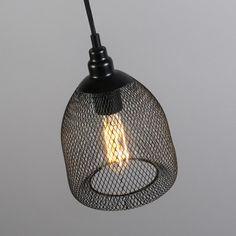 Lámpara colgante MACETA 3 negra