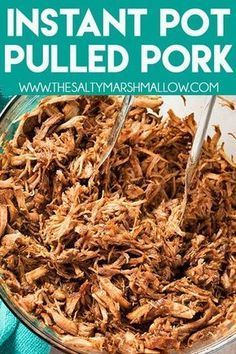 instant pot recipes Instant Pot Pulled Pork is seasoned to perfection, and mouthwateringly tender! Make this easy and super flavorful pulled pork using a pork loin roast and have your familys new favorite instant pot pork recipe on the table in an hour! Pulled Pork Instant Pot Recipe, Pulled Pork Recipes, Instant Pot Dinner Recipes, Shredded Pork Recipes, Pulled Pork Sauce Recipe, Easy Pork Loin Recipes, Pork Sirloin Recipes, Easy Instapot Recipes, Boneless Pork Loin Recipes