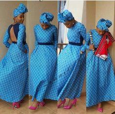 Amazing shweshwe traditional dresses 2019 - Our Nail African Traditional Wedding Dress, Traditional African Clothing, African Wedding Dress, Traditional Outfits, African Attire, African Wear, African Fashion Dresses, African Dress, Shweshwe Dresses