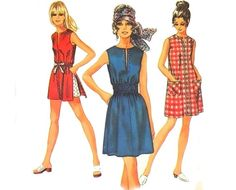 Vintage Sewing Pattern Mod Mini Dress Smocked by mysweetiepiepie, $13.66 bought one for a quarter!sw
