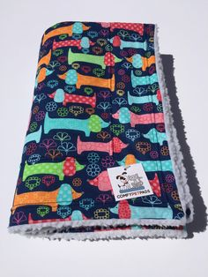 Doxie Dachshund Blanket, Crate Bedding, Wiener Dog Bed, Baby Blanket, Pet Blanket, Stroller Throw, Sausage Dog, Doxie Bedding, Nap Mat by ComfyPetPads on Etsy