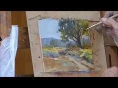 Angie Banta Brown Oil Landscape Demo - YouTube