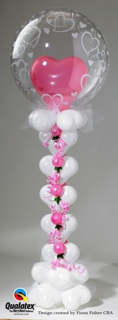 Balloon column castle, great for a child's birthday party or Sweet Sixteen party