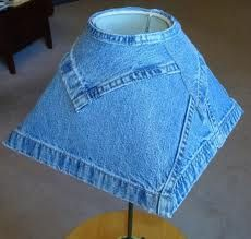first time I have seen a denim lamp shade!