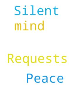 Silent Prayer Requests and Peace of Mind -  Silent Prayer Requests and Peace of Mind  Posted at: https://prayerrequest.com/t/yD6 #pray #prayer #request #prayerrequest
