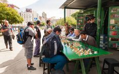 Local flavor: Neighborly competition. Porteños love community chess games and healthy stints of competition.
