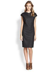 Peserico Flannel Cowlneck Dress