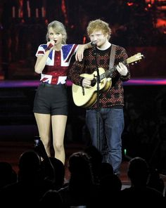 Ed accompanied his BFF when she kicked off the European leg of her MASSIVE Red tour. | 23 Times Taylor Swift And Ed Sheeran's Friendship Ruled Everything