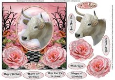 Taurus The Bull Card Topper Decoupage on Craftsuprint - Add To Basket!