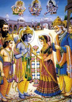 Sitamata marrying Shri Ram. What a Beautiful Eternal Moment!