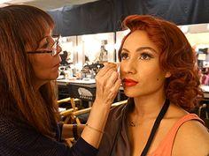 Backstage Oscars makeup Bruce Grayson