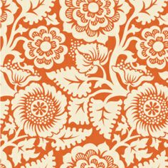 Blockprint Blossom in Amber in Heirloom by Joel Dewberry for Westminster/Free Spirit