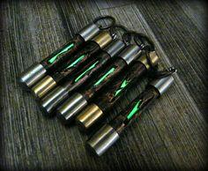 Custom made tritium lantern  keychain tritium container by HKnives, $55.00