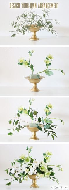 Design and build your own arrangement using products from Afloral.