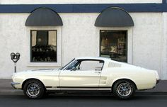 1967 Mustang, put ghost stripes down the middle :O